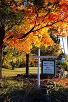 Fall sign Mariaville Lake B&B.JPG